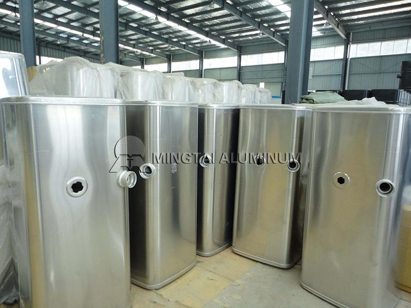 Aluminum alloy fuel tank materials