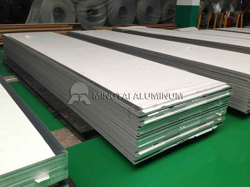 Aluminum plate for tanker trailer