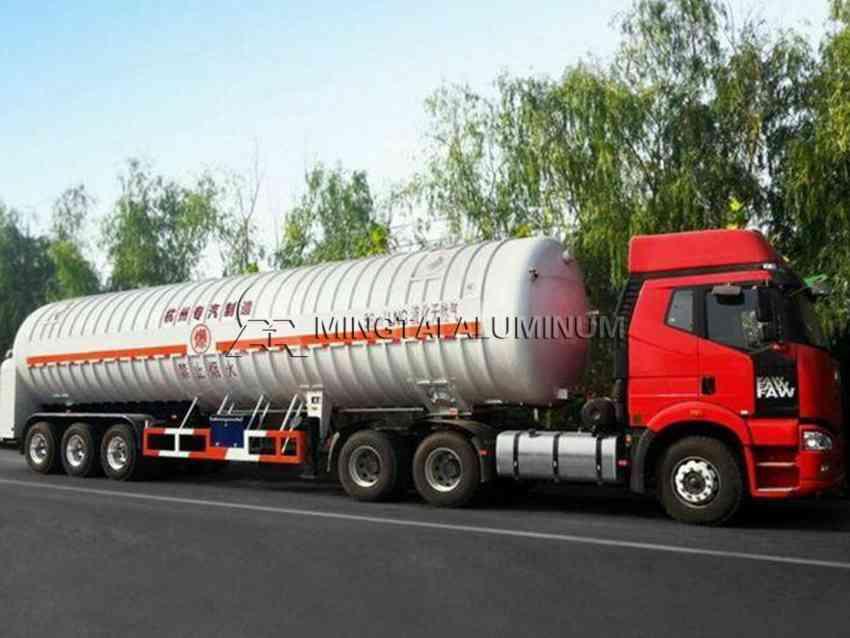 Aluminum plate for tanker trailer