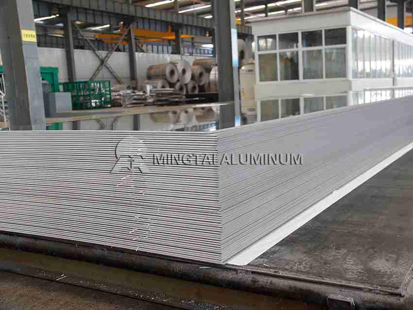 Stamped aluminum sheet